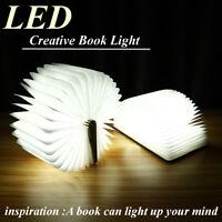 LED Wooden Folding Nightlight Book light USB Rechargeable LED Desk Lamp 4 Colors