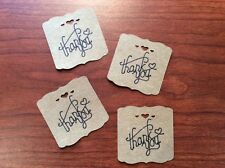 50PCS Thank You Wedding Brown Kraft Paper Tag Favor Gift Tags
