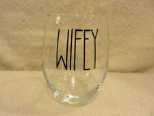 "Rae Dunn ""Wifey"" Stemless Wine Glass"