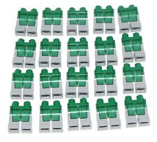 LEGO LOT OF 25 MINIFIGURE LEGS BODY PARTS GREEN AND LIGHT BLUISH GREY