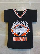 Vintage HARLEY DAVIDSON T-Shirt Style Shape COOZIE Hawaii Flames Beer 80s/90s