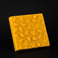 Pure Beeswax 1 pound / lb 100% Natural Wax Block w honey bee honeybee design