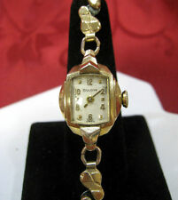 VINTAGE BULOVA L9 10KT ROLLED GOLD PLATE LADIE'S WRISTWATCH RUNS GREAT