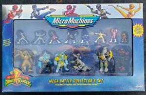 Micro Machines Power Rangers Mega Battle Collector's Set 14 Figures Galoob 1994