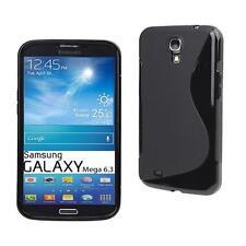 TPU Silikon hülle Samsung Galaxy Mega 6.3 i9205 Tasche Skin Case Schutz schwarz