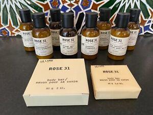 Le Labo Rose 31 10pc Travel Lot Set (Shampoo, Con, Shower Gel, Body Lotion, Bar)