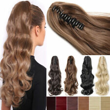 Thick Pretty Wavy Claw/Jaw Clip in Ponytail 100% Real Remy Human Hair Extension