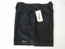 Saucony Alpha Shorts W/ Built-In Briefs Mens Black Loose Fit size XL