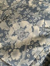 """VINTAGE DORMA QUILTED BLUE REVERSIBLE BED THROW BEDSPREAD DOUBLE 82"""" x 100"""""""