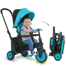 smarTrike smarTfold 300+ Enfant tricycle évolutif 6-en-1 bébé smart trike - Bleu