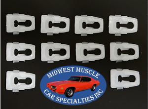 Chrysler Body Side Fender Door Quarter Belt Vinyl Top Molding Trim Clips 10pc ZB