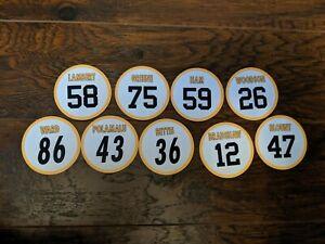 Pittsburgh Steelers Magnets: Jerome Bettis, Hines Ward, Jack Lambert, Polamalu