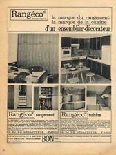 O- Publicité Advertising 1965 Meubles de rangement Rangéco