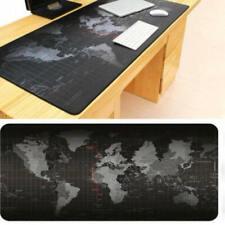 World Map Gaming Mouse Pad - Black Large Desk Pad Non-slip Rubber 300*6 LLN