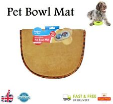 PET BOWL MAT Non Slip Food Mat Cat Kitten Puppy Dog Food Water Feeder Placement