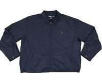 Vintage 90s Polo Ralph Lauren Jacket Mens XXL 2XL Blue Bomber Harrington Golf