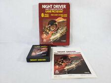 Atari 2600 Black Label Game - Night Driver - COMPLETE In Box - (7800)