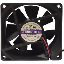 12V DC Case Cooling Fan JAMICON 80x80x25mm