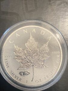 2016 Canada Maple Leaf Proof Tank Privy$5 COIN 1oz .9999 FINE SILVER R Proof
