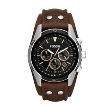 Fossil Coachman Leather Chronograph Mens Watch CH2891