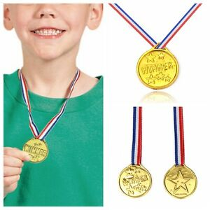 12 24 48 Gold Winners MEDAL Olympic Kids Medals Ideal Party Bag SPORTS DAY