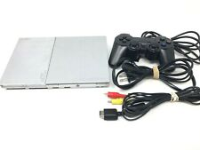 Silver PS2 Playstation 2 Slim Console Working
