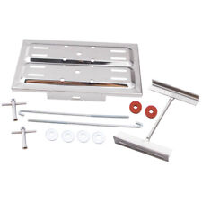 Universal stainless steel battery tray holder kit with j hooks for Hot Rod