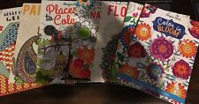 7 AdultColorBooks-1Geometric,1Paisley,1Places,1Nature,3Floral Type- REDUCED 4 U