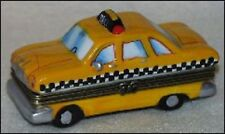 """""""CHECKERED CAB""""-Porcelain Hinged-Box..NAME FOR OLD TIME TAXICAB"""