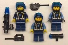 3 LEGO AQUAZONE AQUARAIDERS II MINIFIGS LOT scuba divers city town figures army