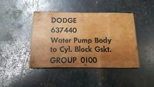 Dodge, Power Wagon, WC, M37, Water Pump to Block Gasket