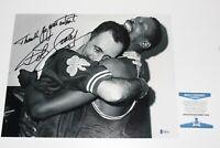 BOSTON CELTICS LEGEND BOB COUSY SIGNED 11x14 PHOTO BECKETT COA NBA WORLD CHAMP