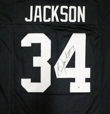 OAKLAND RAIDERS BO JACKSON AUTOGRAPHED SIGNED BLACK JERSEY BECKETT 125136