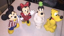 Walt Disney - Mickey/Minnie/Goofy/Pluto - Hand-Painted Ceramic Figurines