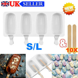 4 Cell Frozen Silicone Ice Cream Mould DIY Pop Mold Home Popsicle Maker Lolly-✅