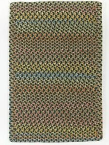 Woodstock Spacedyed Multi Soft Durable Country Cabin Braided Rug Forest WO21