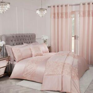 Sequin Leaf Duvet Cover + Pillowcase Curtain Cushion Single Double King Bedding