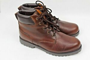 Thornton Bay Men's Waterproof Brown Leather Ankle Hiking Boots Size 13 M