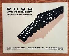 Rush Poster Live In Concert Cleveland Cincinnati Columbus