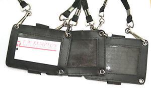 Security SIA ID Holder. 3 way attachment Armband, lanyard, epaulette/Belt.#20405