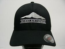WHEELER HOMES - BLACK - EMBROIDERED - L/XL SIZE STRETCH FIT BALL CAP HAT