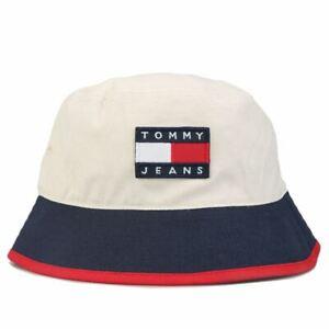 Accessories Mens Tommy Hilfiger Heritage Cotton Bucket Hat in Cream