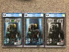 Iron Fist #1 CGC 9.8 Dell'Otto Virgin Color Black & White Variant Cover Set