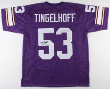 "Mick Tingelhoff Signed Minnesota Vikings Jersey Inscribed ""H.O.F. 15"" (JSA COA)"