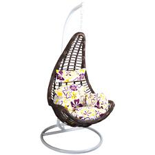 Hangstoel Schommelstoel Loungestoel Tuinstoel Terrasstoel Ligstoel Deluxe Bruin