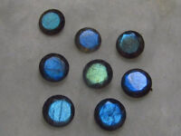 3X3mm - 10X10mm Round Cut Faceted- Natural Blue Fire LABRADORITE Loose Gemstones