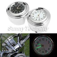"7/8"" 1"" Motorcycle Handlebar Dial Clock Glow Watch for Honda Shadow Sabre 1100"