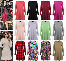 Long Sleeve Skater Casual Floral Dresses for Women