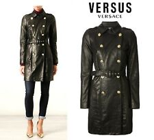 VERSACE Versus ~ Leather Crocodile double-breast Trench / Coat~ size: M / L ; 44