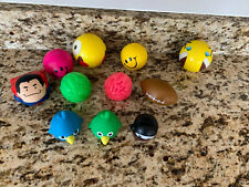 Lot 11 Stress Relief Squeeze Balls + Water Squirter Toy Emoji Smiley Face